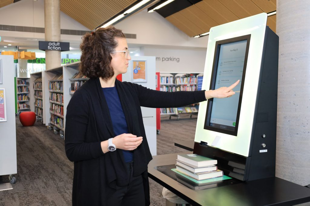 City of South Perth Library_Self Check Out_Manning Library